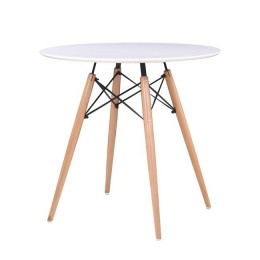 Art Wood Tραπέζι D.80xH74cm Λευκό MDF Ε7083,1