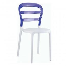 Bibi White-Violet Καρέκλα PP/Polycarbonate 42x50x85cm 32.0049