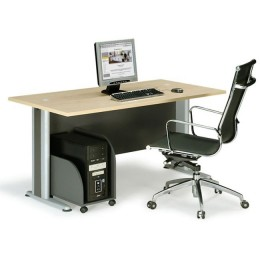 Basic Γραφείο 150x80x75cm/Dark Grey-Beech ΕΟ997