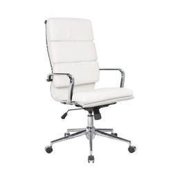 BF4800 Πολυθρόνα Γραφείου 55x63x116/126cm PU Λευκό ΕΟ234,1