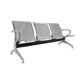 Κάθισμα Υποδοχής 3 θέσεων 180x68x80cm Χρώμιο/Γκρι Ε503,01