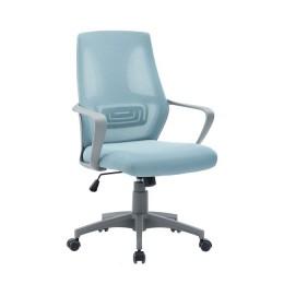 BF2960 Πολυθρόνα Γραφείου Mesh Γκρι-Μπλε ΕΟ545,2